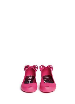 Figure View - Click To Enlarge - Melissa - 'Ultragirl Minnie' polka dot bow kids flats