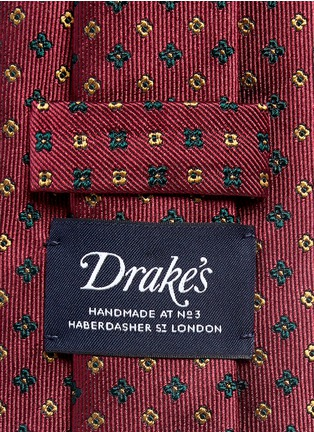 Detail View - Click To Enlarge - Drake's - Mini floral jacquard silk tie