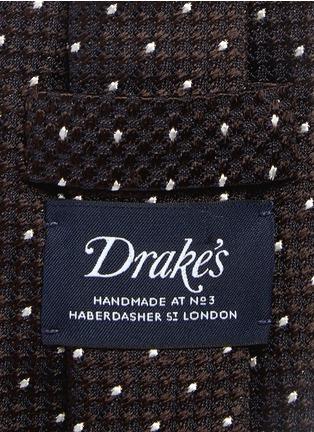 Detail View - Click To Enlarge - Drake's - Dot stitching silk grenadine tie