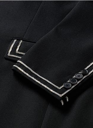- Givenchy Beauty - Curb chain piping virgin wool blazer