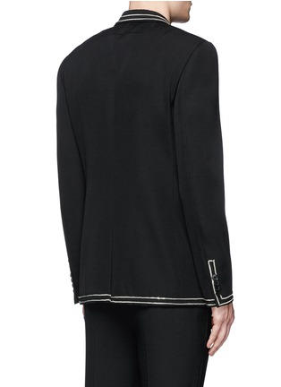 Back View - Click To Enlarge - Givenchy Beauty - Curb chain piping virgin wool blazer