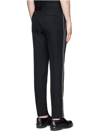 Back View - Click To Enlarge - Givenchy - Curb chain side stripe virgin wool pants
