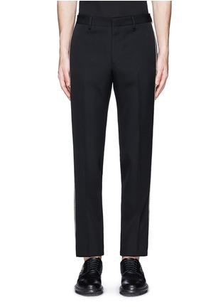 Main View - Click To Enlarge - Givenchy - Curb chain side stripe virgin wool pants