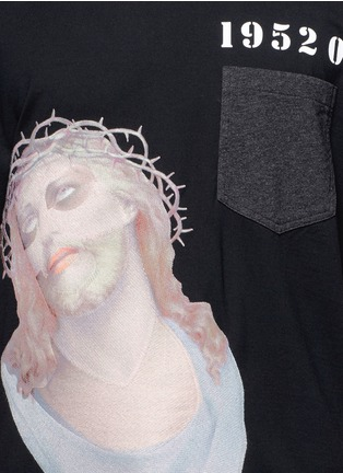 Detail View - Click To Enlarge - Givenchy - Jesus embroidery appliqué T-shirt