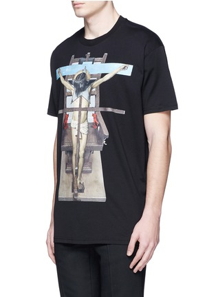 Front View - Click To Enlarge - GIVENCHY - Jesus print cotton T-shirt