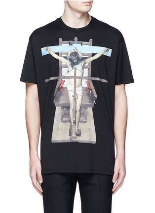 Main View - Click To Enlarge - GIVENCHY - Jesus print cotton T-shirt