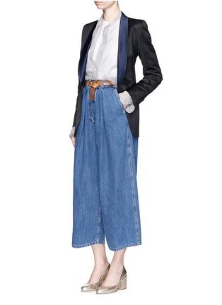 Figure View - Click To Enlarge - Dries Van Noten - 'Brisa' satin shawl lapel tuxedo jacket