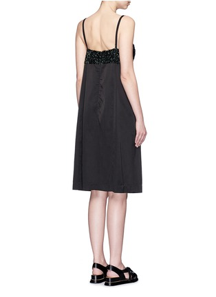 Back View - Click To Enlarge - Dries Van Noten - 'Dal' sequin embellished sateen cami dress