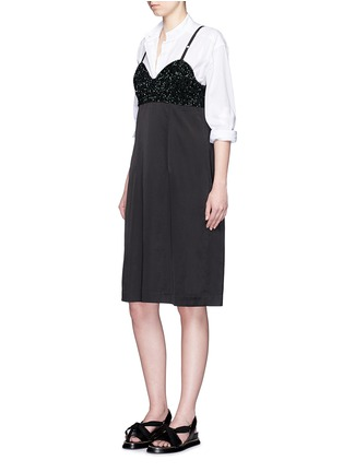 Figure View - Click To Enlarge - Dries Van Noten - 'Dal' sequin embellished sateen cami dress