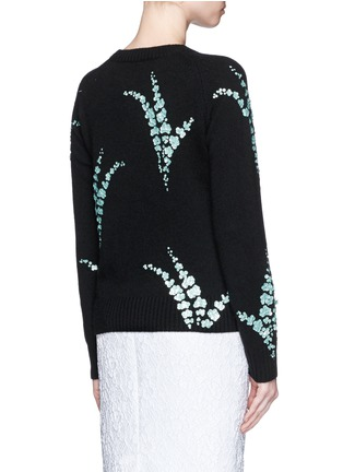 Back View - Click To Enlarge - Dries Van Noten - 'Jackleen' leaf sequin cashmere sweater
