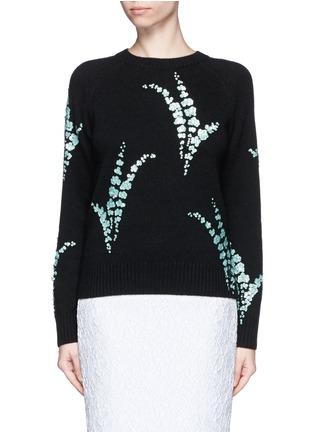 Main View - Click To Enlarge - Dries Van Noten - 'Jackleen' leaf sequin cashmere sweater