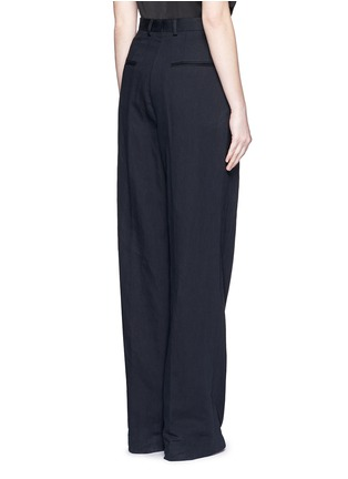 Back View - Click To Enlarge - Dries Van Noten - 'Page' cotton-linen pants