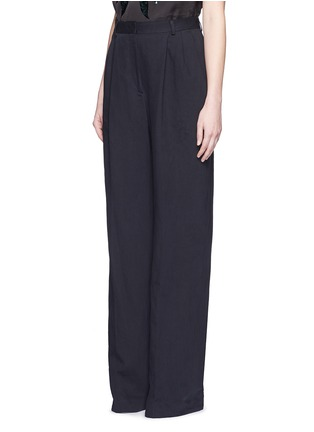 Front View - Click To Enlarge - Dries Van Noten - 'Page' cotton-linen pants