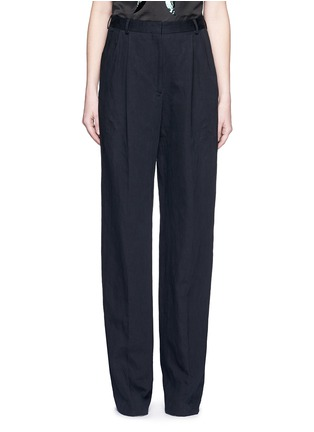 Main View - Click To Enlarge - DRIES VAN NOTEN - 'Page' cotton-linen pants