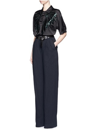 Figure View - Click To Enlarge - Dries Van Noten - 'Page' cotton-linen pants
