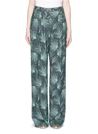 Main View - Click To Enlarge - Dries Van Noten - 'Page' floral print wide leg crepe pants