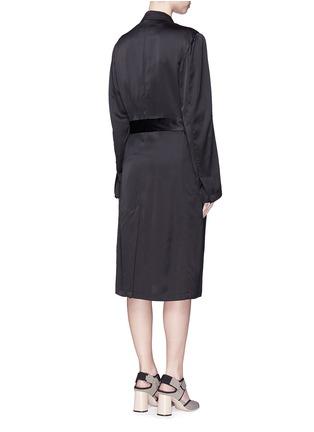 Back View - Click To Enlarge - Dries Van Noten - 'Rella' sequin embroidery pocket satin coat