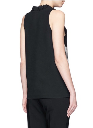 Back View - Click To Enlarge - Victoria Beckham - Surfer print sleeveless crepe top