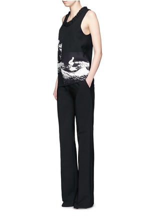 Figure View - Click To Enlarge - Victoria Beckham - Surfer print sleeveless crepe top