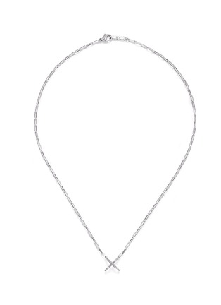 Main View - Click To Enlarge - CORE JEWELS - 'Mobius' diamond 18k white gold small cross pendant necklace
