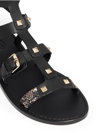 Detail View - Click To Enlarge - Ash - 'Morocco' pyramid stud gladiator sandals