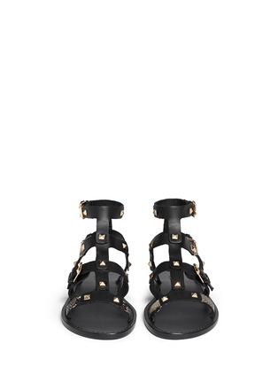 Front View - Click To Enlarge - Ash - 'Morocco' pyramid stud gladiator sandals