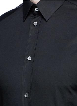 Detail View - Click To Enlarge - Dolce & Gabbana - 'Gold' stretch poplin shirt