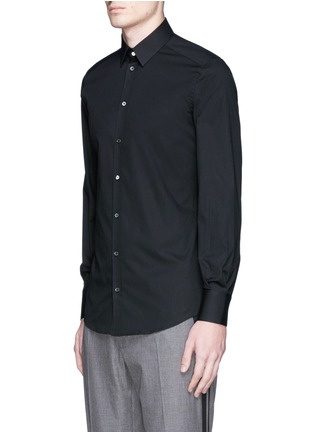 Front View - Click To Enlarge - Dolce & Gabbana - 'Gold' stretch poplin shirt