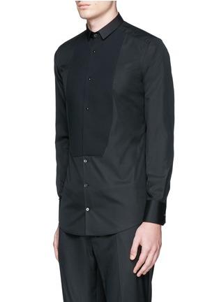 Front View - Click To Enlarge - - - 'Gold' piqué bib tuxedo shirt