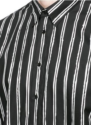 Detail View - Click To Enlarge - Dolce & Gabbana - Vertical stripe cotton poplin shirt