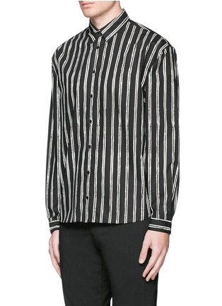 Front View - Click To Enlarge - Dolce & Gabbana - Vertical stripe cotton poplin shirt