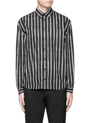 Main View - Click To Enlarge - Dolce & Gabbana - Vertical stripe cotton poplin shirt