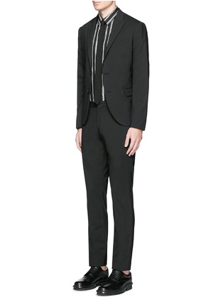 Figure View - Click To Enlarge - Dolce & Gabbana - Vertical stripe cotton poplin shirt