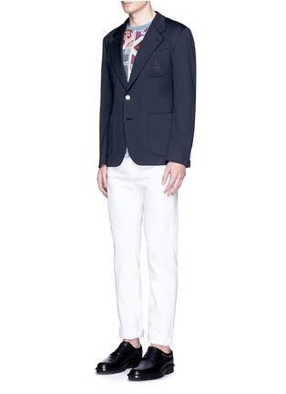 Figure View - Click To Enlarge - Dolce & Gabbana - Crown embroidery jersey blazer