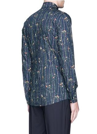 Back View - Click To Enlarge - Dolce & Gabbana - 'Gold' bird and bamboo print poplin shirt