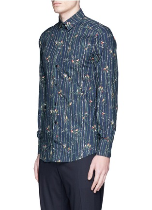 Front View - Click To Enlarge - Dolce & Gabbana - 'Gold' bird and bamboo print poplin shirt