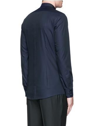 Back View - Click To Enlarge - Dolce & Gabbana - 'Gold' satin stripe tuxedo shirt