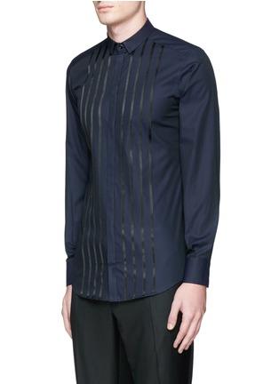 Front View - Click To Enlarge - Dolce & Gabbana - 'Gold' satin stripe tuxedo shirt