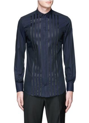 Main View - Click To Enlarge - Dolce & Gabbana - 'Gold' satin stripe tuxedo shirt