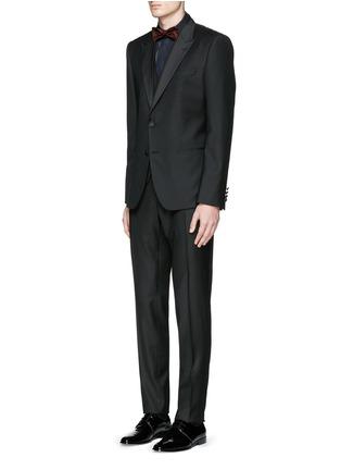 Figure View - Click To Enlarge - Dolce & Gabbana - 'Gold' satin stripe tuxedo shirt