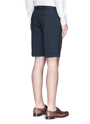 Back View - Click To Enlarge - Dolce & Gabbana - Rolled cuff chino shorts