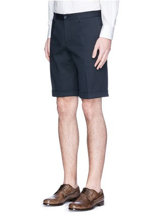 Front View - Click To Enlarge - Dolce & Gabbana - Rolled cuff chino shorts