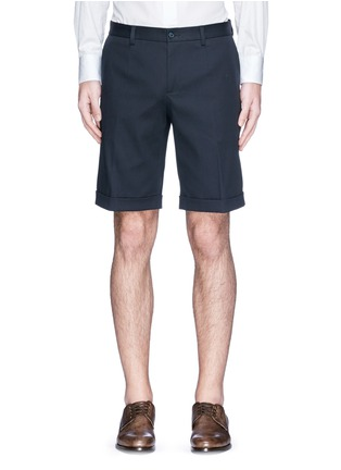 Main View - Click To Enlarge - Dolce & Gabbana - Rolled cuff chino shorts
