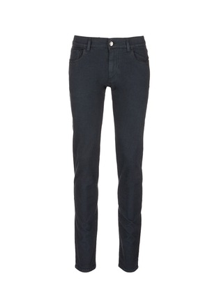 Main View - Click To Enlarge - - - Garment dyed stretch jeans