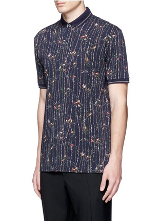 Front View - Click To Enlarge - Dolce & Gabbana - Bird and bamboo print polo shirt