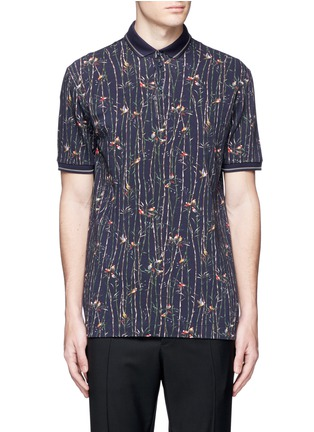 Main View - Click To Enlarge - Dolce & Gabbana - Bird and bamboo print polo shirt