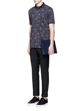 Figure View - Click To Enlarge - Dolce & Gabbana - Bird and bamboo print polo shirt