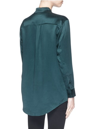 Back View - Click To Enlarge - Equipment - 'Daddy' silk shirt