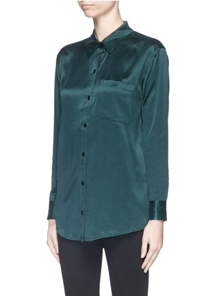 Front View - Click To Enlarge - Equipment - 'Daddy' silk shirt