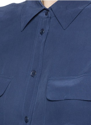 Detail View - Click To Enlarge - Equipment - 'Slim Signature' silk shirt